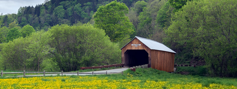 Selling a Vermont home - Covered bridge